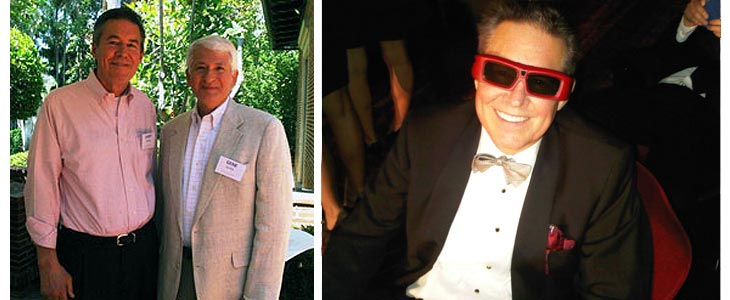 Larry with UCLA Chancellor Gene Block and Larry with 3-D glasses