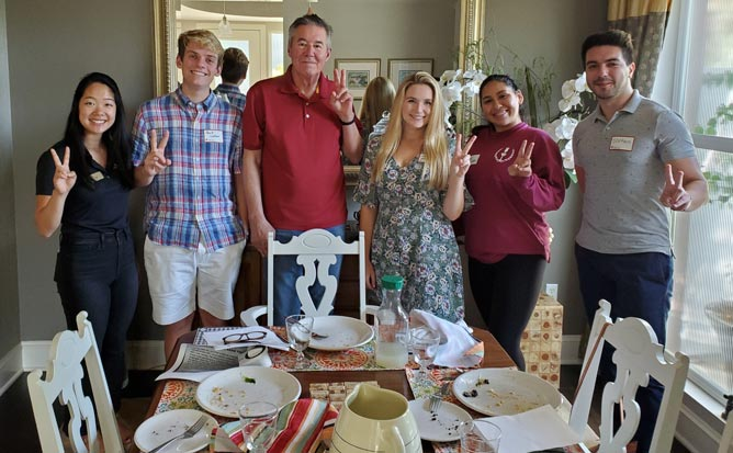 Host, 2019 Trojan SCuppers mentoring event, celebrating USC's traditions and transformation, part of USC Alumni Association (USCAA) and Society 52, October 2019