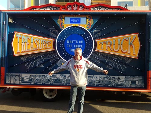 Larry Londre in front of the Treasure Truck